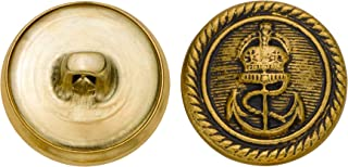 product image for C&C Metal Products 5269 Royal Anchor Metal Button, Size 30 Ligne, Antique Gold, 36-Pack