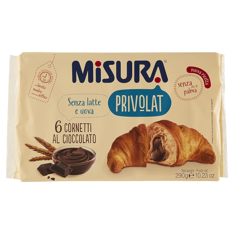 La medición de chocolate Privolat Cornetto Sin Aceite de Palma 6 croissants: Amazon.es: Salud y cuidado personal