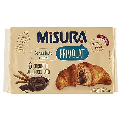La medición de chocolate Privolat Cornetto Sin Aceite de Palma 6 croissants
