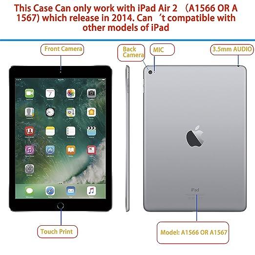 iHarbort- iPad Air 2 Funda - Ultra Delgado Ligero Funda de Piel de ...