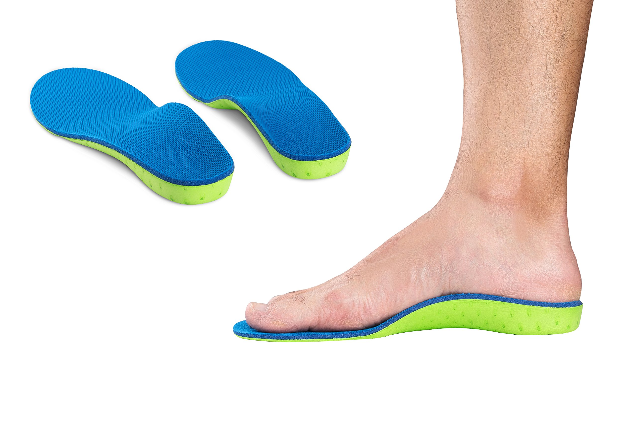 High Arch Support Plantar Fasciitis Insoles Orthotic Inserts for Flat Feet and Over Pronation (S Women8.5-10 Men8-9)