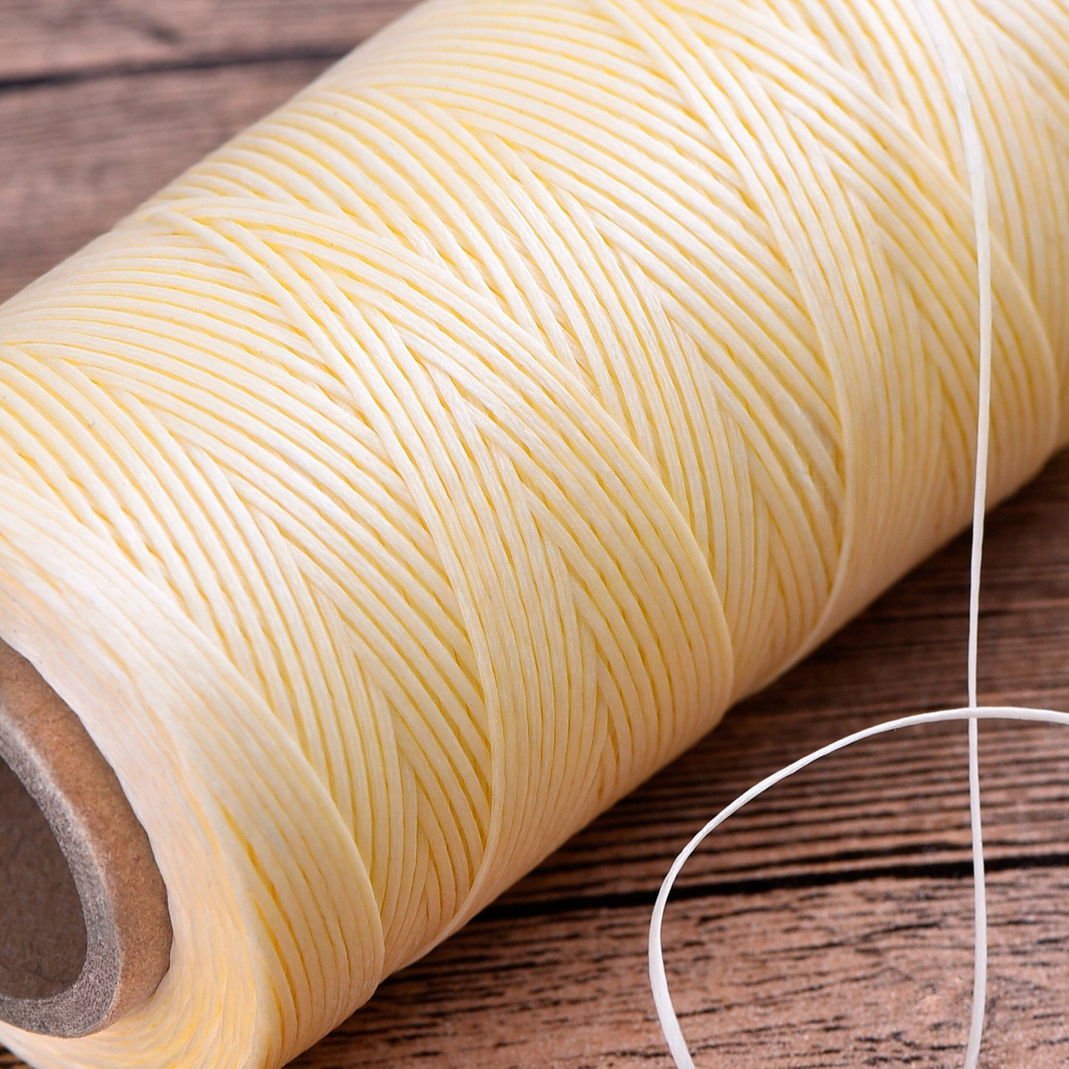 eBoot 260m 150D 1 mm Leather Sewing Waxed Thread Cord for Leather Craft DIY Black