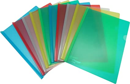World One RF013 Strip File, Multicolor - Pack of 10 File Folders at amazon