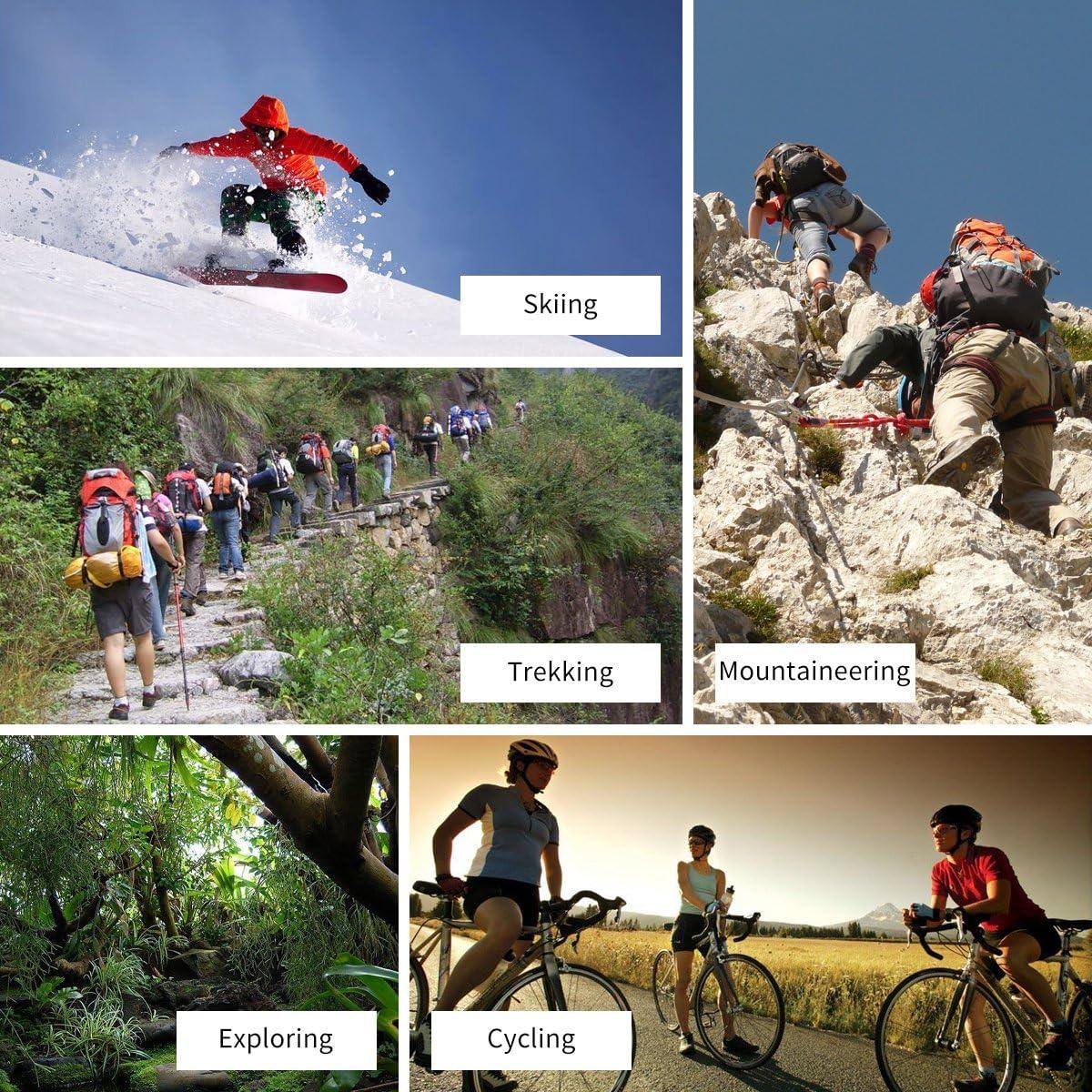 YUEDGE 5 paar Wandersocken Trekkingsocken f/ür Damen Atmungsaktiv Sportsocken Hochleistung