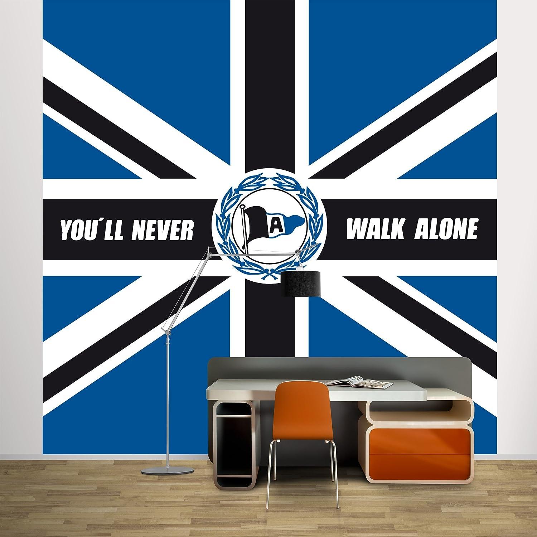 Non Woven Wallpaper Dsc Arminia Bielefeld You Ll Never Walk