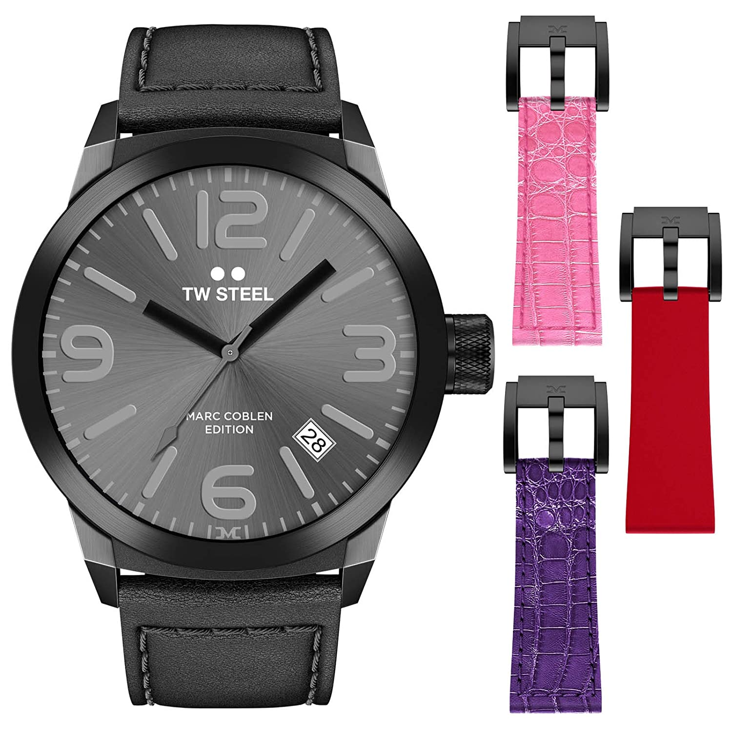 TW Steel Marc Coblen Edition 42 MM Set mit 3 ArmbÄndern TWMC8 - SET4