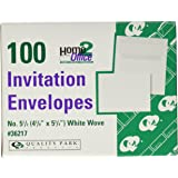 Quality Park Invitation Envelopes, #5.5, White, 4.375 x 5.75 inches,Box of 100 (36217)