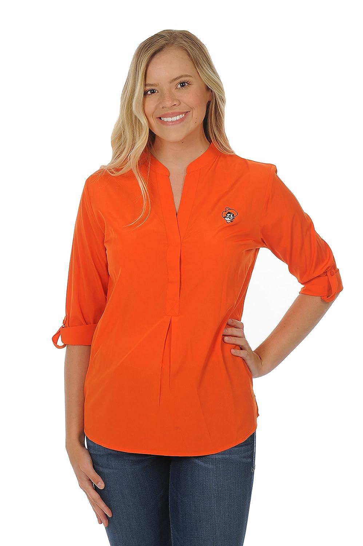 ボタンダウンチュニック B0728MPQFF Medium|オレンジ|Oklahoma State Cowboys オレンジ Medium