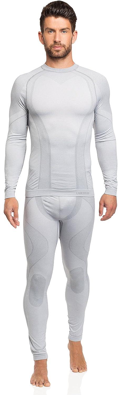 Ladeheid Herren Funktionsunterwäsche Set lange Unterhose plus langarm Shirt thermoaktiv 05 210 150