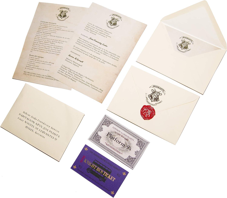 Pack Carta aceptación Hogwarts en Castellano Personalizada y Mapa ...