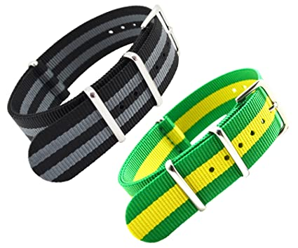 8b1af47a096 MetaStrap 20mm Nylon Watch Band NATO Strap  Amazon.co.uk  Watches