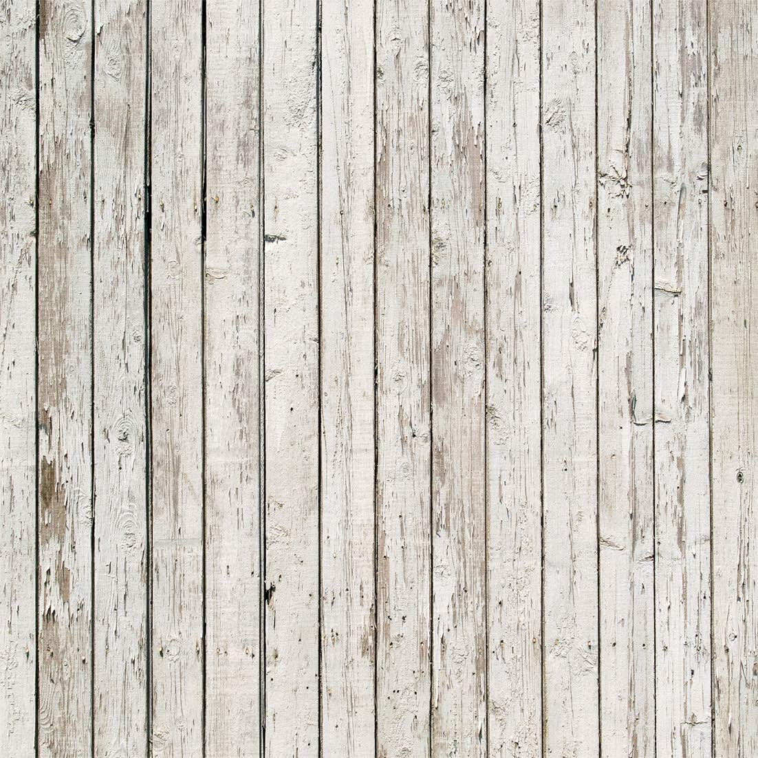 LYWYGG 10x10ft Photography Backdrop White Wood Backdrops for Photography Wood Floor Wall Background for Photographyers CP-22-1010