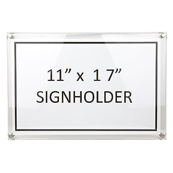 Amazoncom Large Document Frame Acrylic Sign Holder Wall Mount