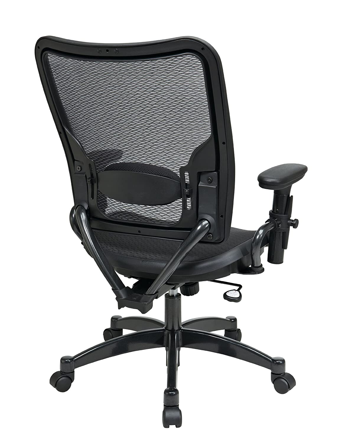 Attirant Amazon.com: SPACE Seating Deluxe AirGrid Dark Back And Seat, 2 To 1 Synchro  Tilt Control, Adjustable Arms, Tilt Tension And Lumbar Support With  Gunmetal ...