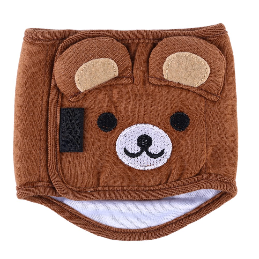 Everpert Belly Wrap Band Diaper Nappy Pants Puppy Sanitary Underwear(Brown)(M)
