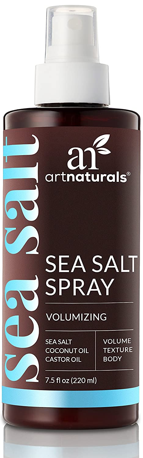 ArtNaturals Sea Salt Hair Spray – (7.4 Fl Oz/220ml) – Volumizing &Texturizing for Carefree Tousled Styles – Natural Spray That Works for All Hair Types – Sea Salt, Coconut & Castor Oil