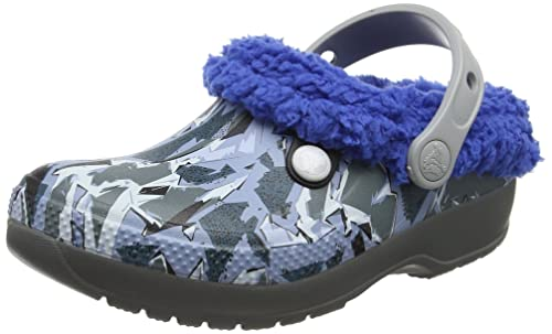 crocs Classic Blitzen III Graphic Kids, Unisex - Kinder Clogs, Grau (Slate Grey/Blue Jean), 32/33 EU