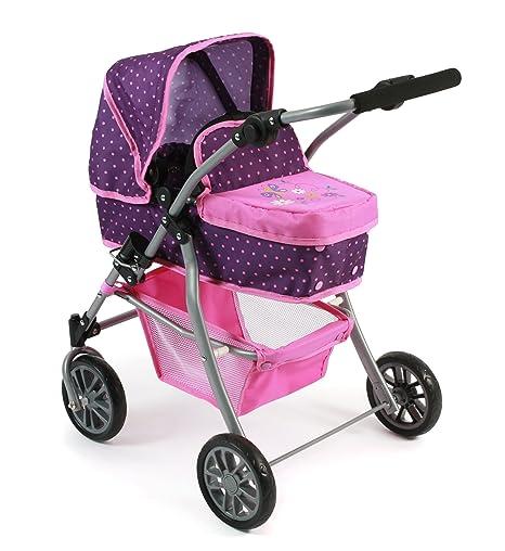 Bayer Chic 2000 591 40 – Carrito de muñecas Speedy 2 en 1, Dots Purple