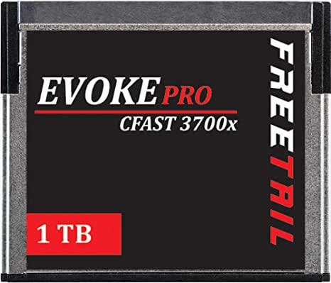 FreeTail Evoke Pro 1TB CFast 2.0 Card Speeds up to 560MB/s, VPG 130 Made for Canon, BlackMagic Design, Hasselblad, and Phantom Devices (FTCF001A37P)