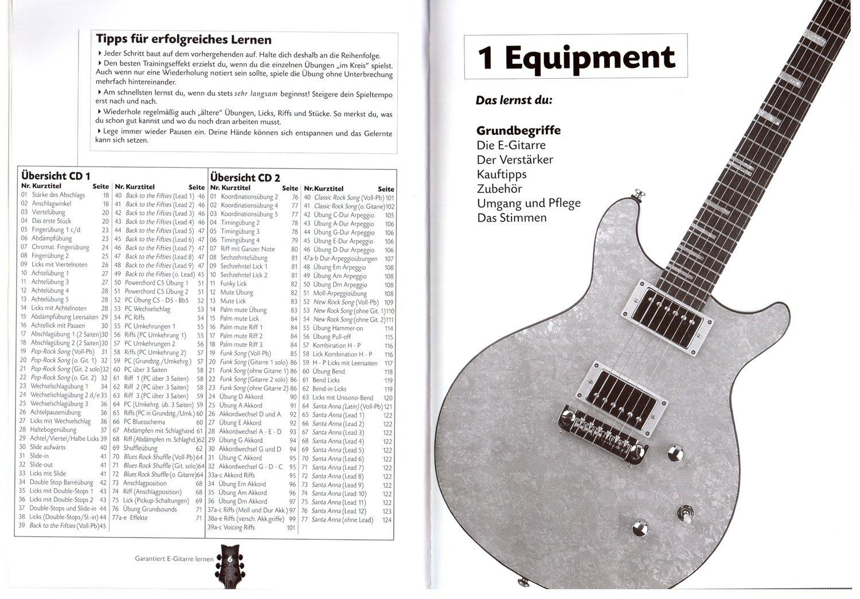 garantiza S de aprendizaje Guitarra - Guitarra Escuela con 2 CD y Dunlop Púa - primera Guitarra eléctrica Escuela con Internet Soporte para principiantes y ...