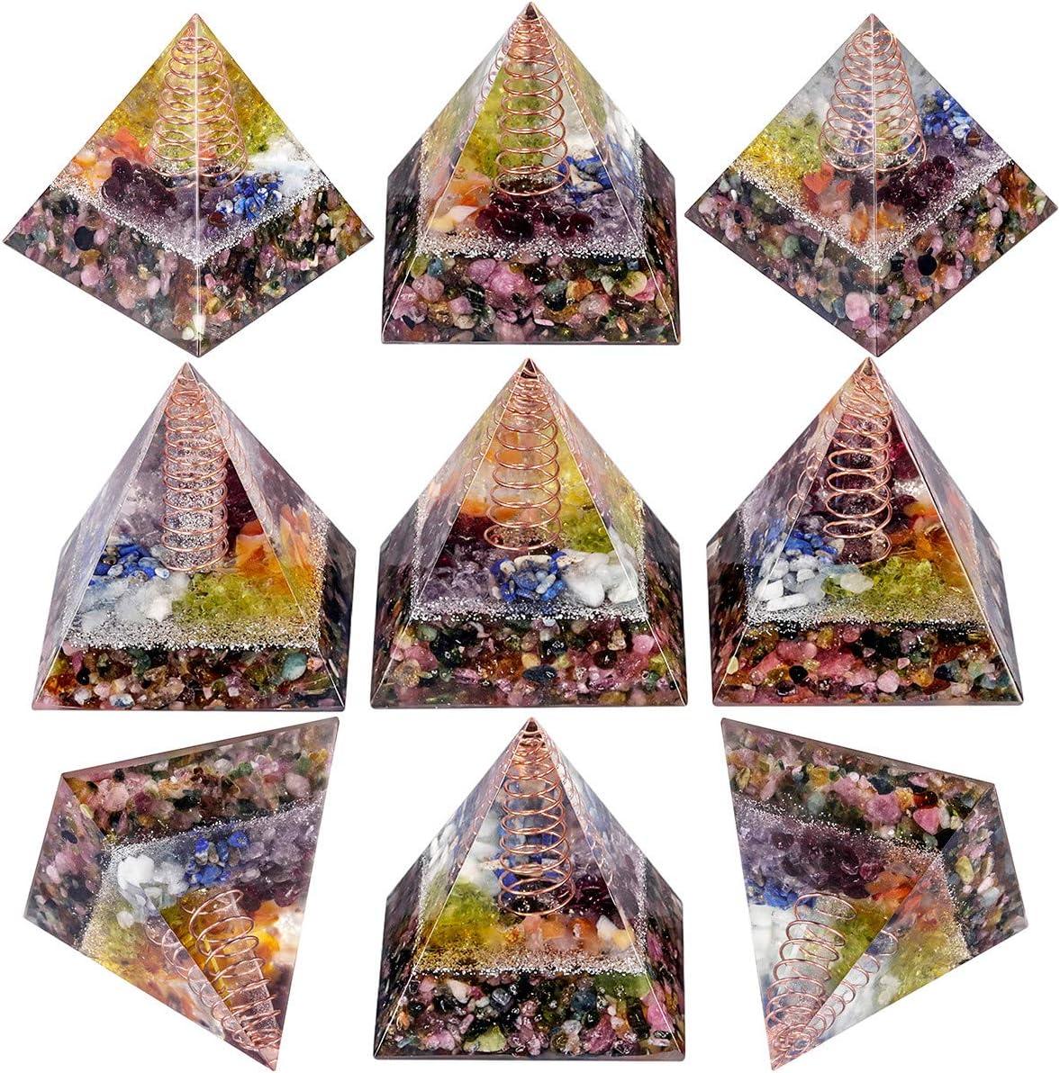 Nupuyai Lapis Lazuli Healing Crystal Pyramid for Protection Chakra Energy Crystal Quartz Points Decor 5cm