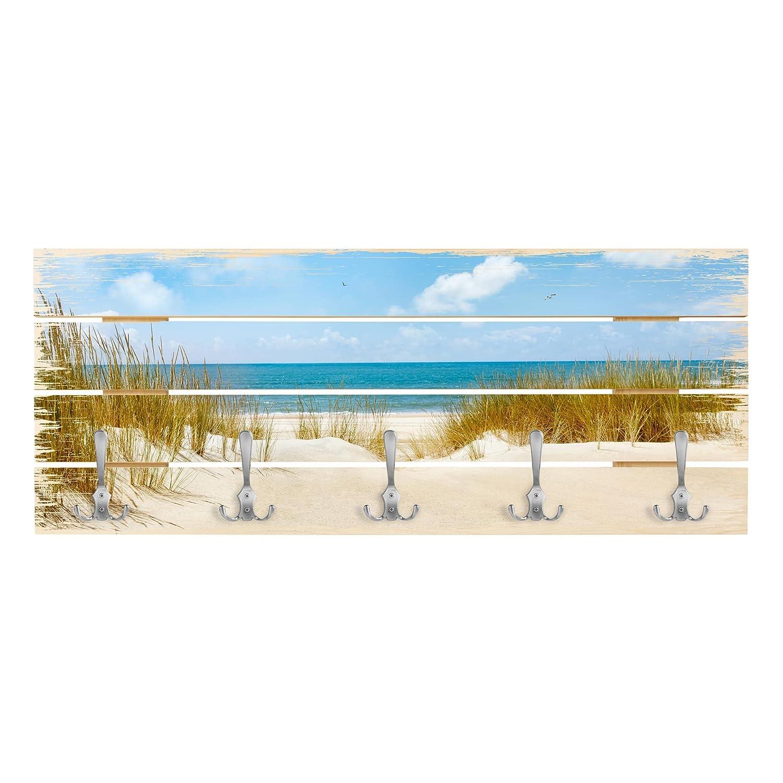 Bilderwelten Perchero de Madera - Beach On The North Sea ...