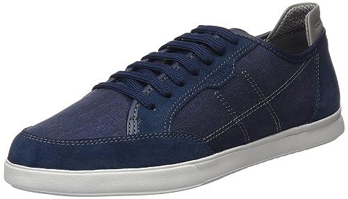Geox Men's U Walee A Low-Top Sneakers, Blue, 6 UK