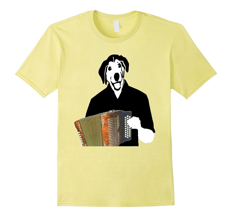 Accordion Dog Funny Cajun Music Tee Shirt-BN