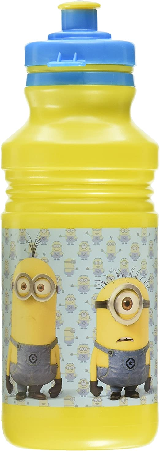 SET OF 4 DESPICABLE ME MINIONS SPORTS DRINKS BOTTLE KIDS WATER SCHOOL JUICE NEW