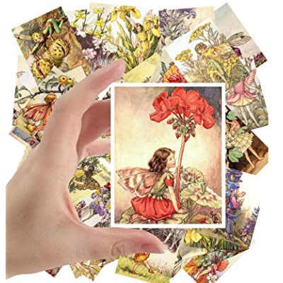 "Large Stickers (24 pcs 2.5""x3.5"") Flower Fairy by Cecile Barker Vintage Illustrations: Toys & Games"