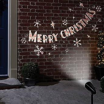 Led Frohe Weihnachten.Frohe Weihnachten Led Bild Projektor Amazon De Beleuchtung