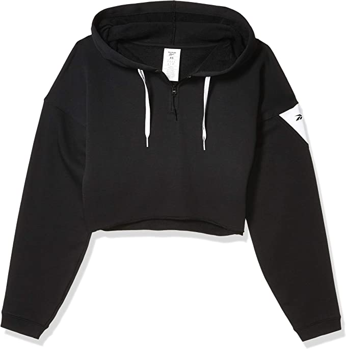 Reebok Damen Workout Ready Meet You There 14 Zip Hoodie