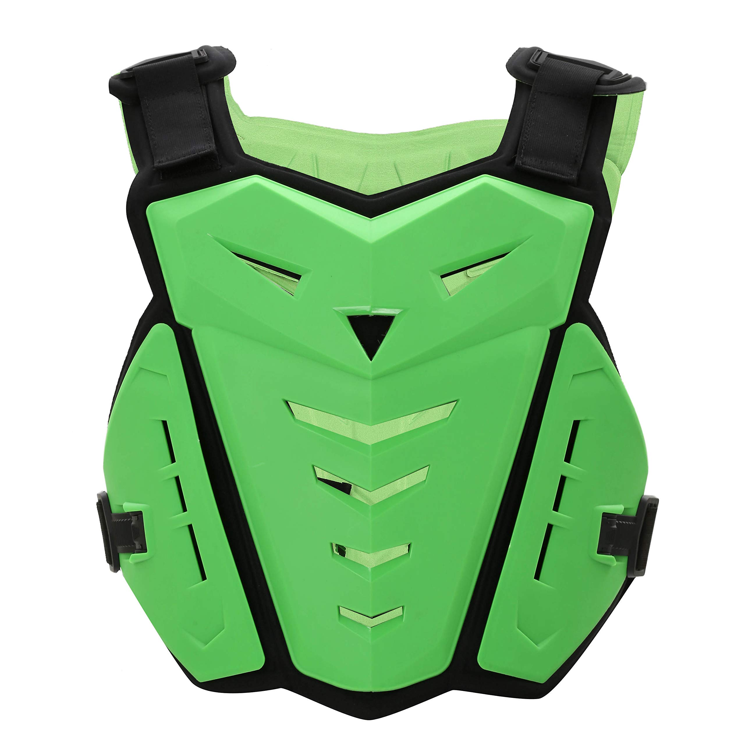 OHMOTOR Chest Back Protector Motorcycle Armor Vest Motorcycle Riding Chest Armor (Green)