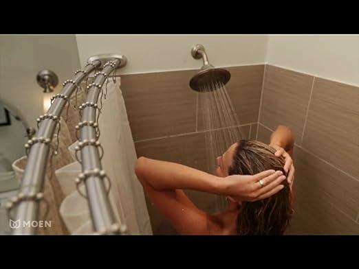 Amazon.com: Moen DN2141CH Adjustable Double Curved Shower Rod, Chrome: Home  Improvement
