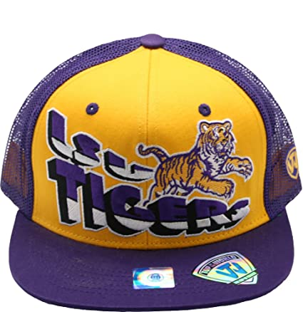 huge selection of e4bc7 0b2a2 Image Unavailable. Image not available for. Color  Top of the World LSU  Tigers Flatbill Snapback Plastic Back Purple Yellow