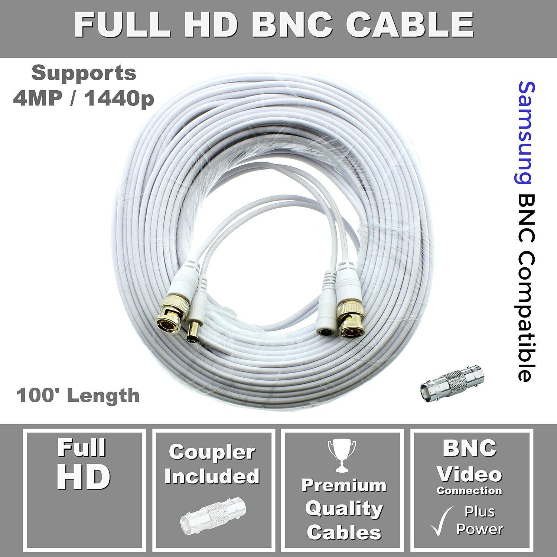 200ft Premium Cable for Samsung SDC-9441BC 1080P HD BNC Camera