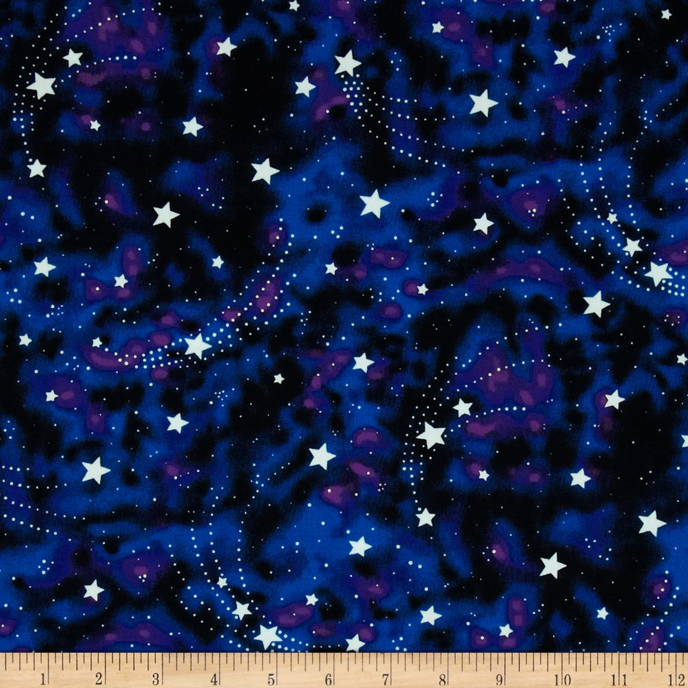Michael Miller Star Magic Glow in The Dark Fabric by The Yard, Nite 0355635