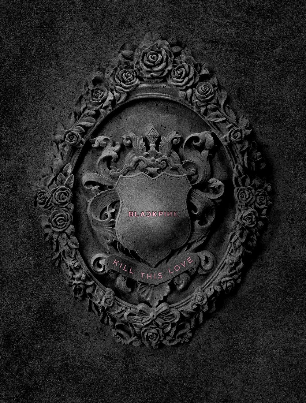 YG Blackpink - Kill This Love [Black ver.] (2nd Mini Album) CD+52p Photobook+Lyrics Book+4Photocards+Polaroid Photocard+Sticker Set+On Pack Poster+Folded Poster+Double Side Extra Photocards Set by YG