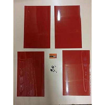 RALLY MUDFLAPS RED X4 20'' x 12'' 3MM PVC - MSA RALLY MUDFLAPS: Automotive