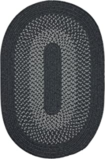 product image for Madison Rugs, 4' x 4' Round, Charcoal