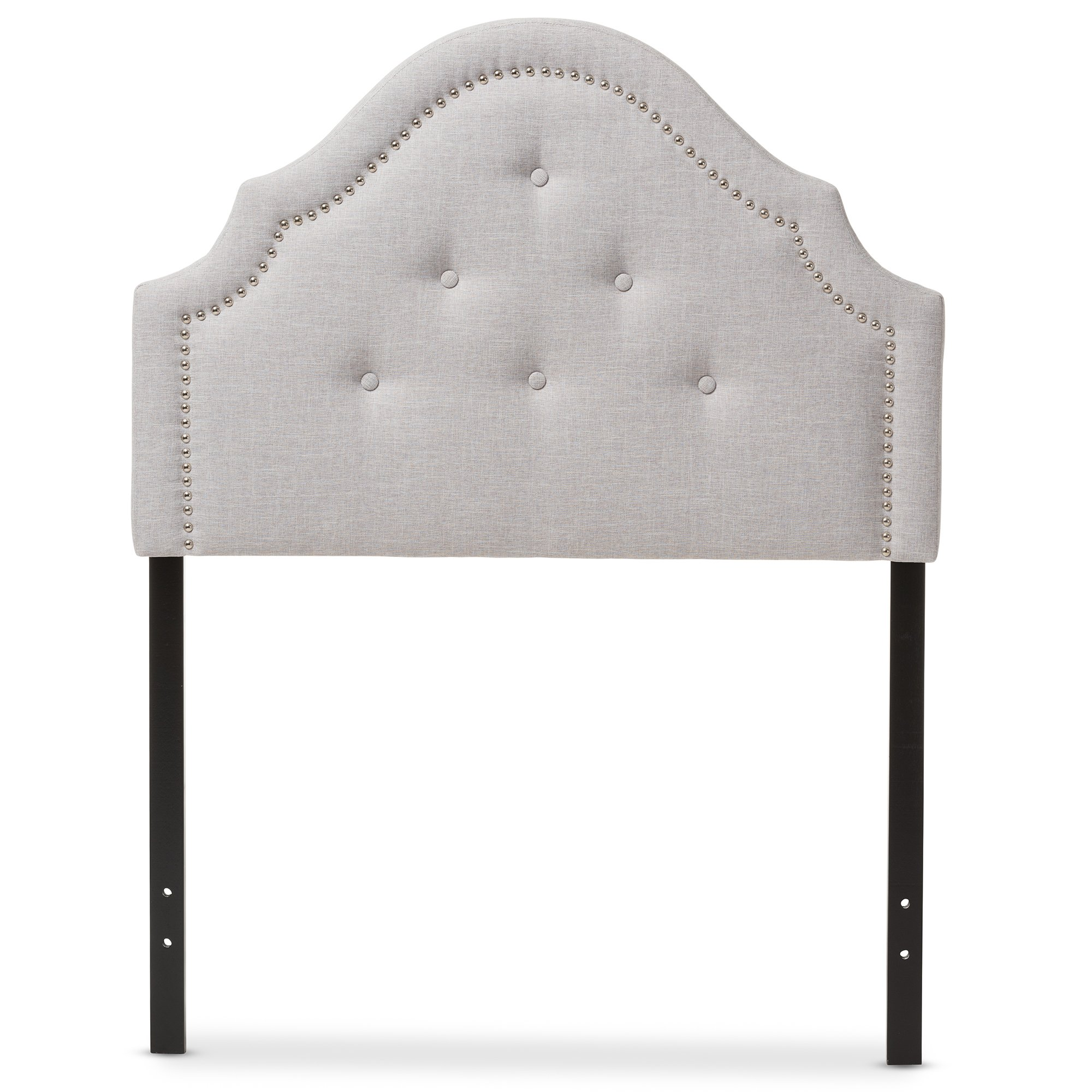 Baxton Studio Cosette Modern and Contemporary Greyish Beige Fabric Upholstered Headboard, Twin