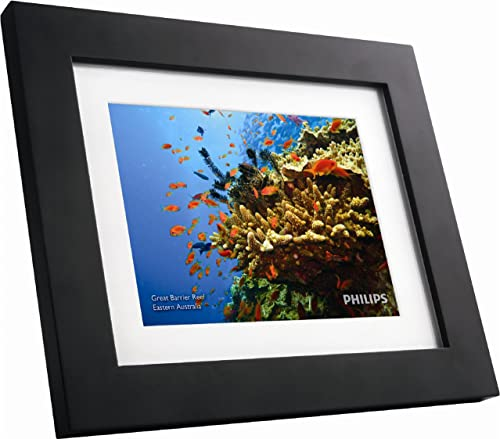 GiiNii SPF3483/G7 8″ Digital Picture Frames Brown/Black