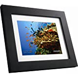 "GiiNii SPF3483/G7 8"" Digital Picture Frames (Brown/Black with White Mat)"