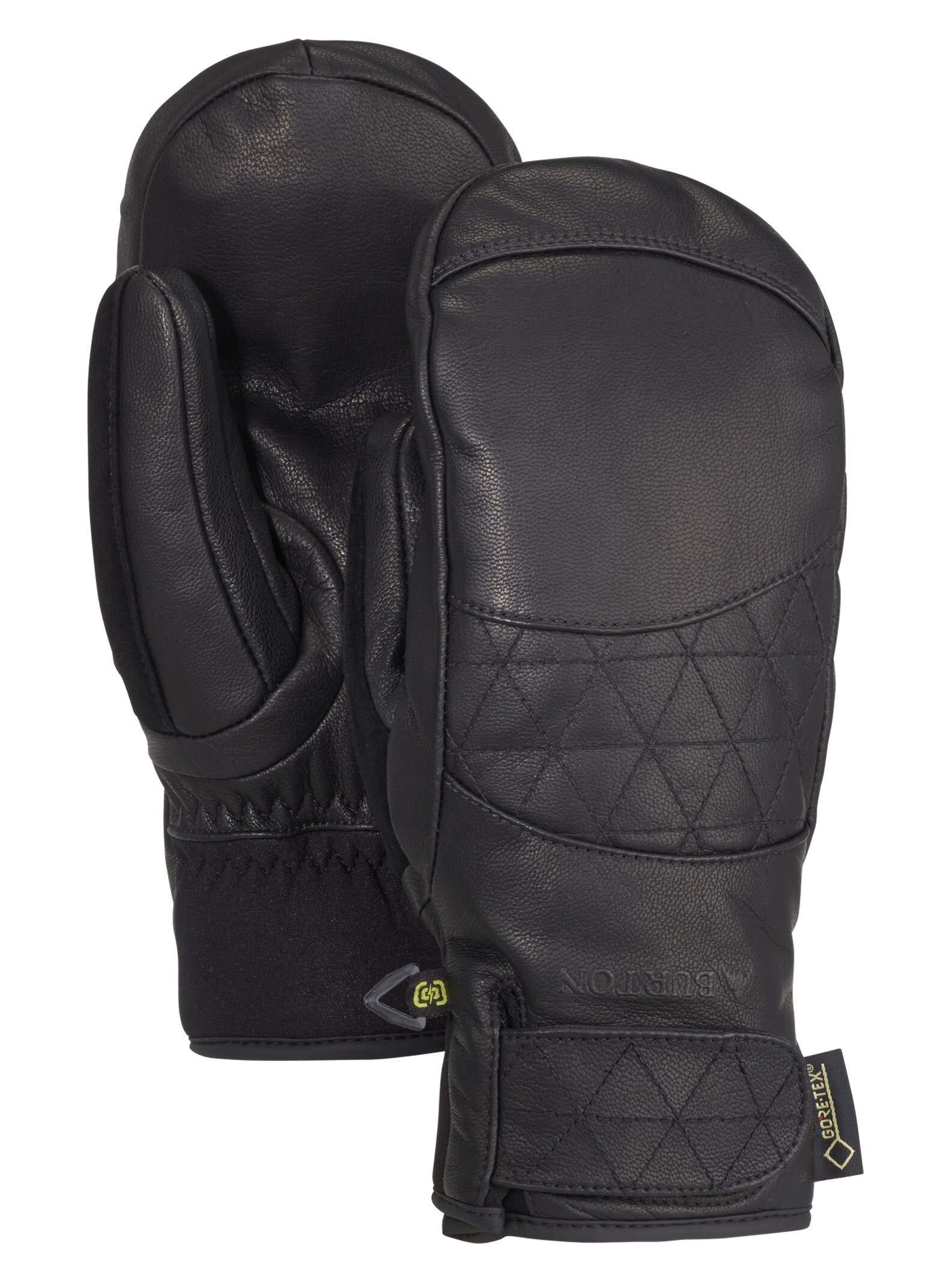Burton Women's Gondy Gore-tex Leather Mitten, True Black, X-Small