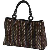 カリオカ 和装 洋装 どちらでも使える 職人手作り 手提げ バッグ ( ベージュ ミックス ブラック) 日本製