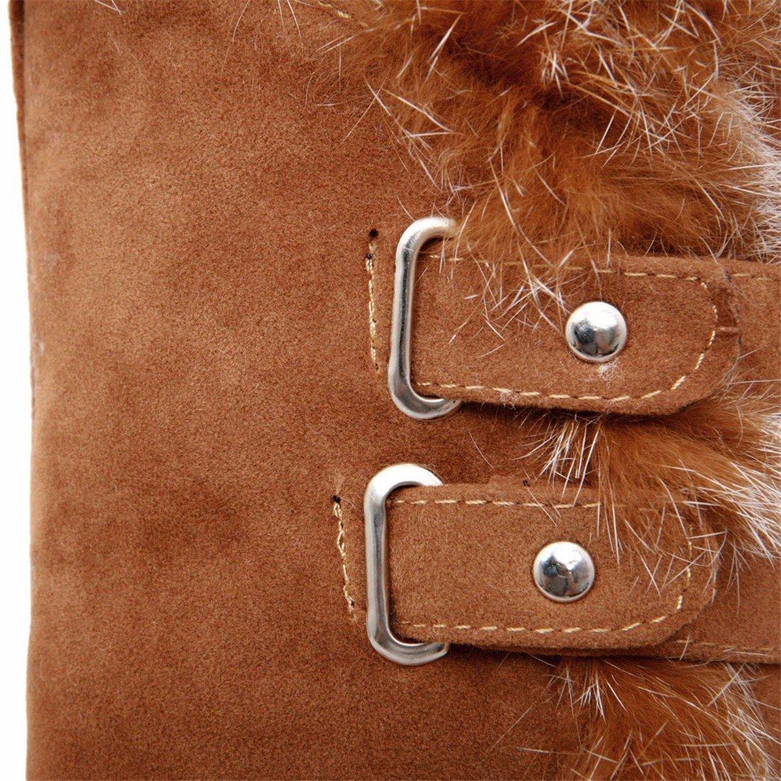 RFF-Woherren Wedge schuhe Wedge RFF-Woherren Heel, Cotton Stiefel, medium Stiefel, warm Winter Stiefel 20190f