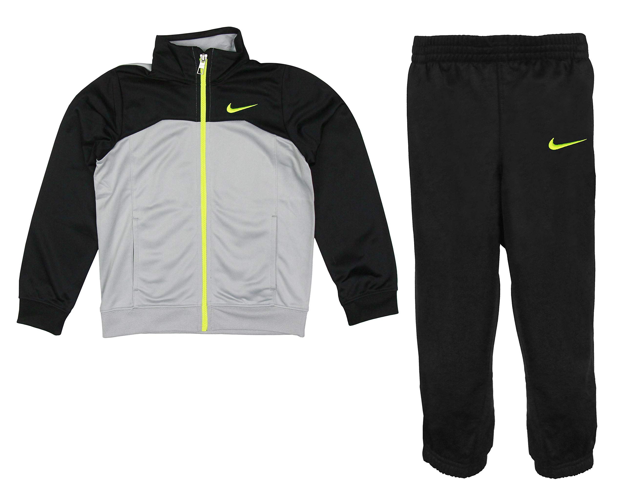Nike Boys Two Piece Tracksuit Jacket & Pants Set - Black, Grey (6)