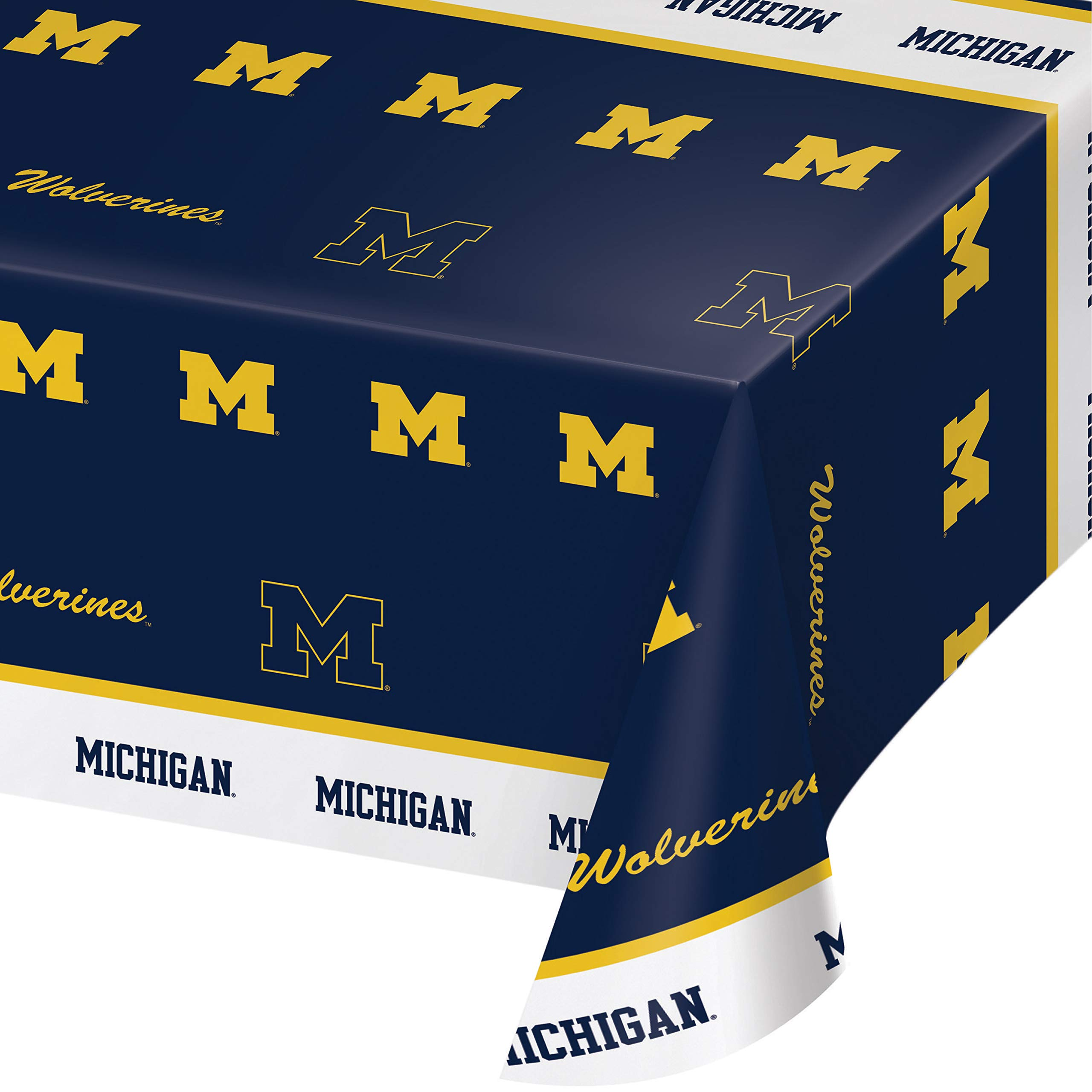 University of Michigan Plastic Tablecloths, 3 ct by Creative Converting