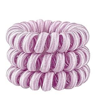 Sixtrend 3er Set Pack Spiral Haargummis Aus Stoff Textil Elastisch