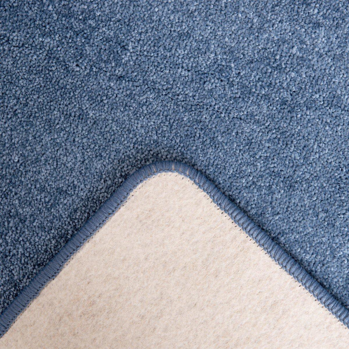 Havatex Havatex Havatex Velours Teppich Kontor - Farbe wählbar   schadstoffgeprüft pflegeleicht   robust strapazierfähig Wohnzimmer Kinderzimmer Schlafzimmer, Farbe Silber, Größe 80 x 200 cm B00IIC9GBG Teppiche 355cb9